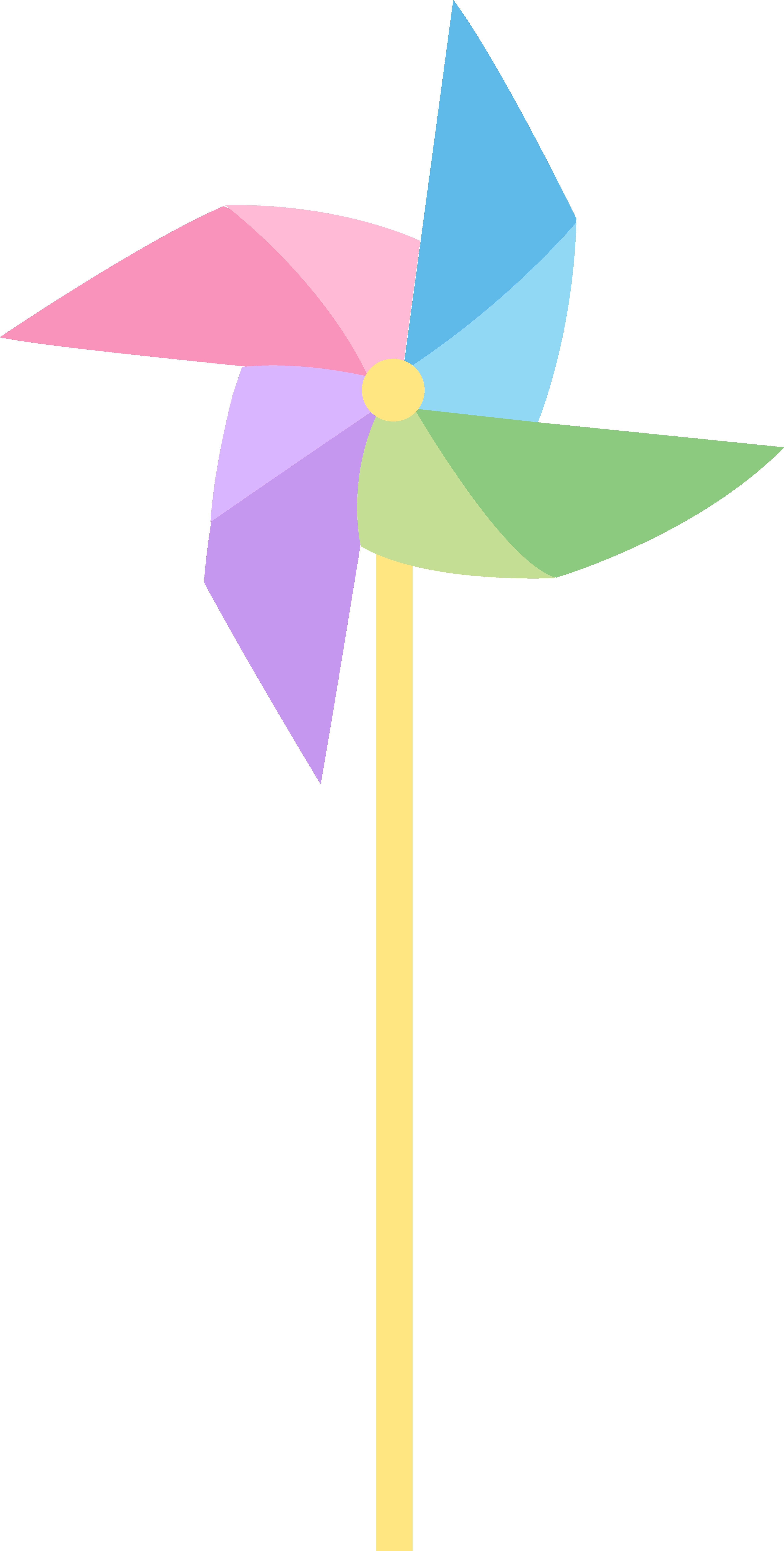 4574x9042 Pastel Colored Pinwheel Free Clip Art Toy ~ Idolza