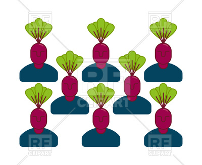 400x327 Office Vegetables Garden. Manager Beet. Royalty Free Vector Clip