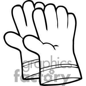 300x300 Garden Gloves Clipart