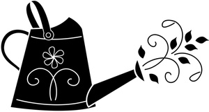 300x162 Watering Can Clipart Image