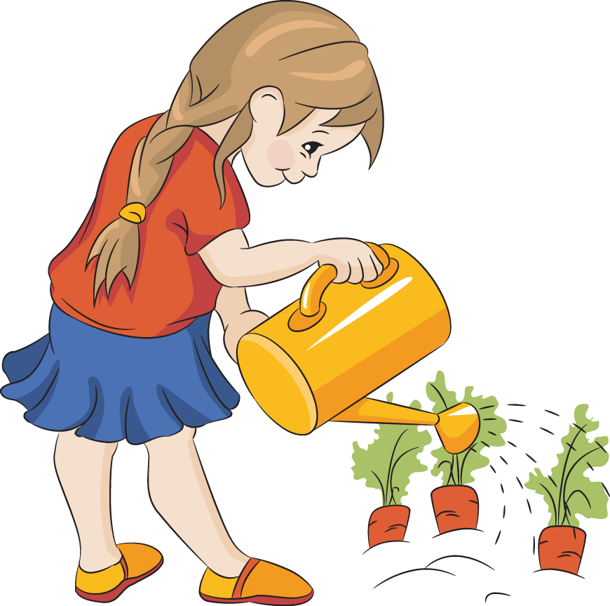 870x863 Children In The Garden Clipart