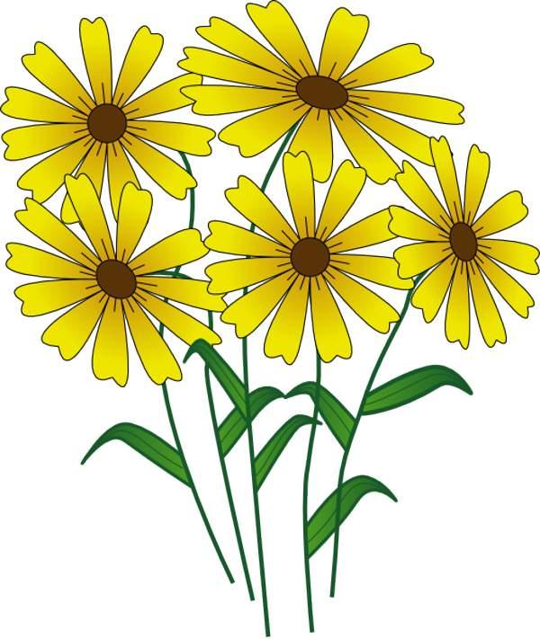 600x711 Flower Garden Clipart