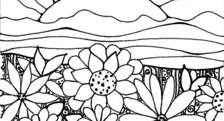 728x393 Coloring Pages Garden Flower Garden Coloring Pages To Download