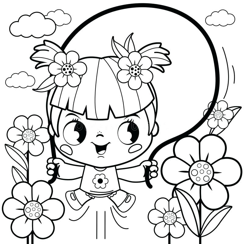 800x800 Excellent Glamorous Flower Garden Coloring Pictures Online