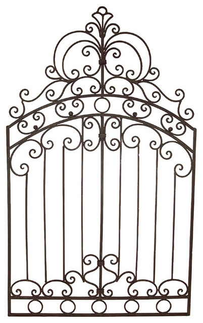 402x640 Bianca Tuscan 50 Wrought Iron Garden Gate Wall Grille Plaque