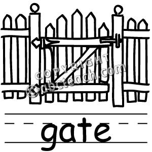 300x300 Gate Clipart Art