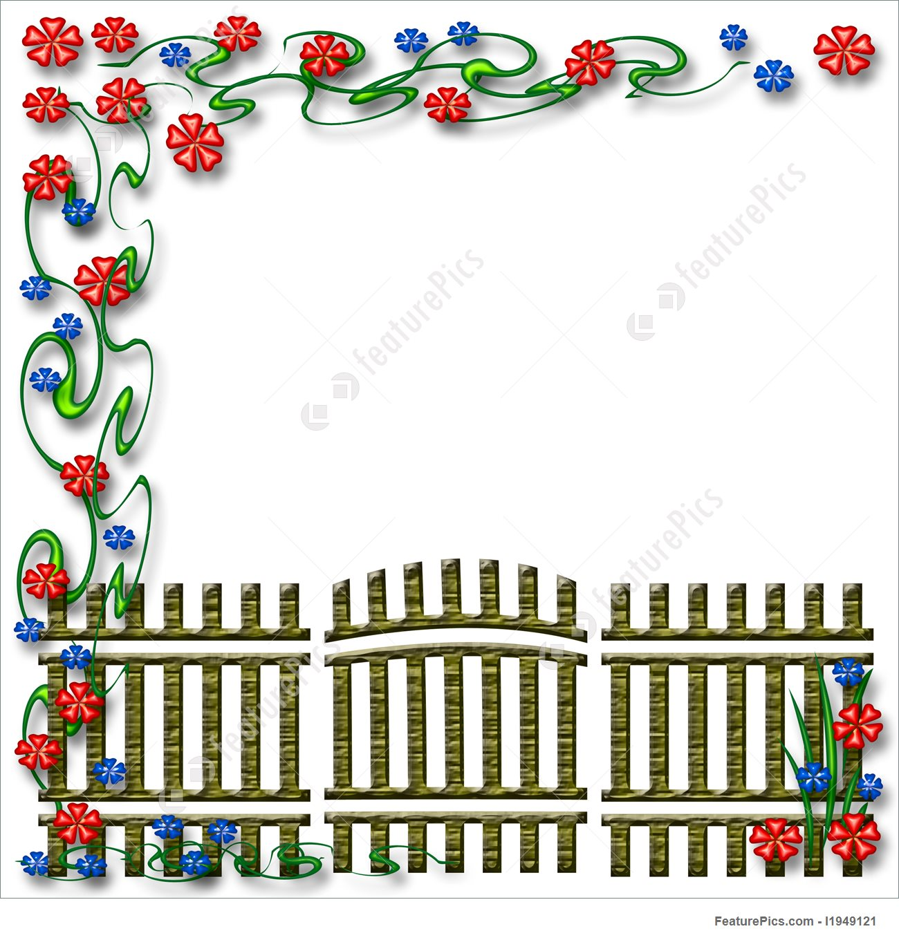 1300x1360 Templates Garden Gate Scrapbook Page