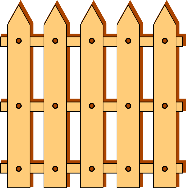 794x800 Wooden Garden Fence Clipart