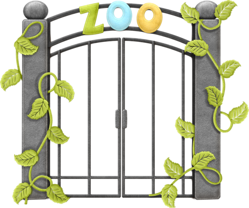500x417 Cute Gate Clipart