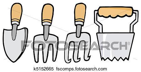 450x231 Clipart Of Gardening Tools K5152665