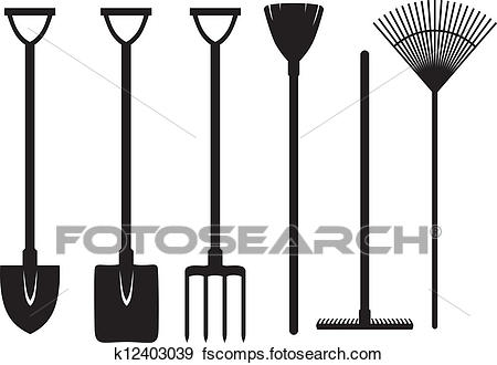 450x330 Clip Art Of Gardening Tools Set K12403039