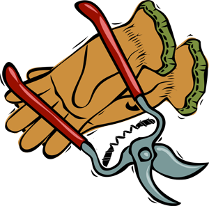 300x296 Gardening Clipart Graphics Of Gardeners And Tools 3