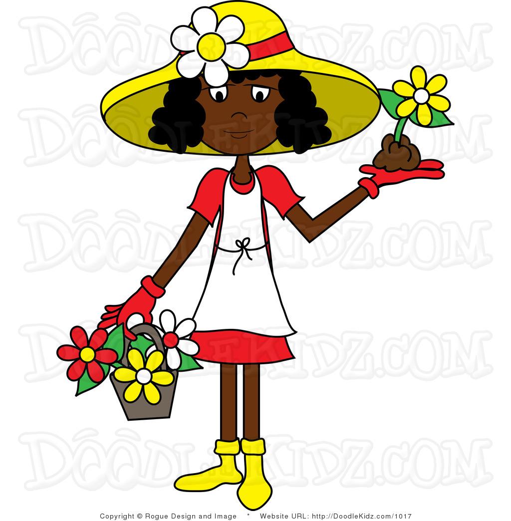 1024x1044 Girl Gardening Clipart