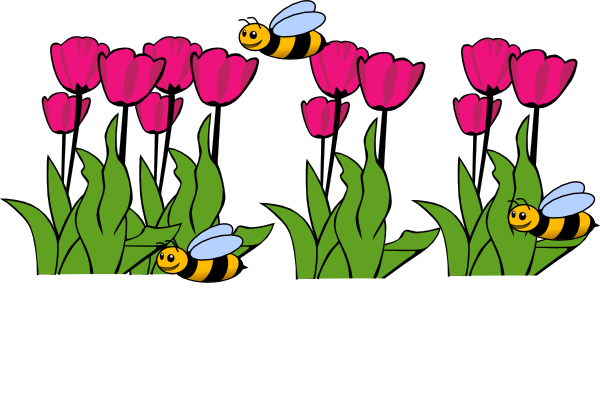 600x398 Bees On Tulips Clip Art