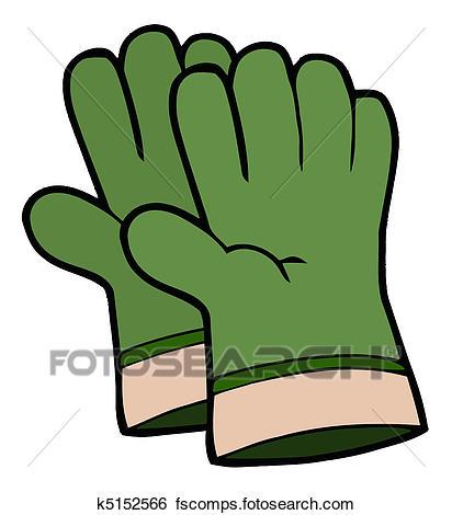 412x470 Clip Art Of Pair Of Green Gardening Hand Gloves K5152566