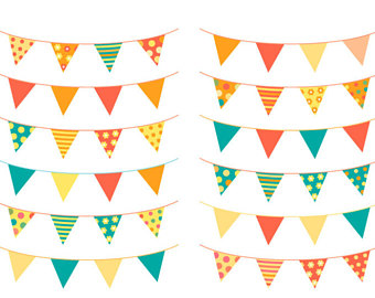 340x270 Doodle Bunting Clipart Flags Clipart Bunting Clip Art Garland
