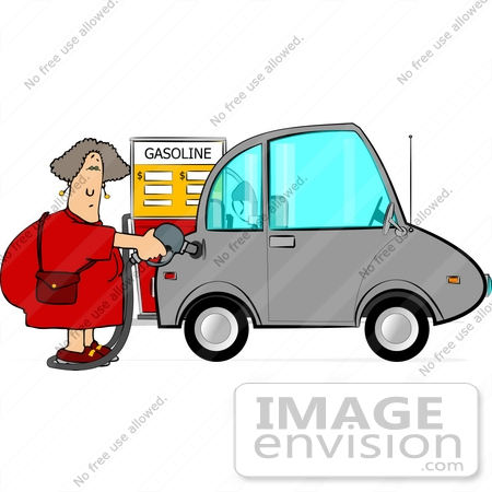 450x450 Woman Pumping Gas Into Her Compact Car