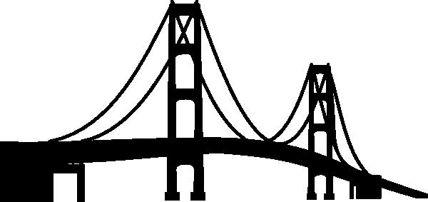 600x283 Bridge Clipart Silhouette