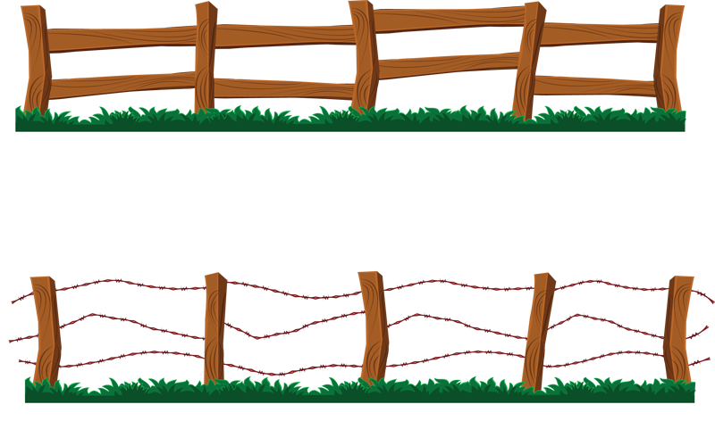 800x472 Fence Clip Art Black And White Clipart Panda