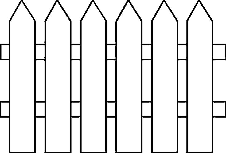736x499 Fence Clipart Black And White