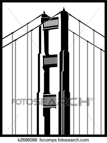 352x470 Golden Gate Bridge Clipart Illustrations. 512 Golden Gate Bridge