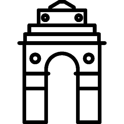 512x512 India Gate Clipart Black White Amp India Gate Clip Art Black