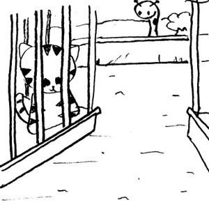 300x300 Zoo Gate Clipart Black And White