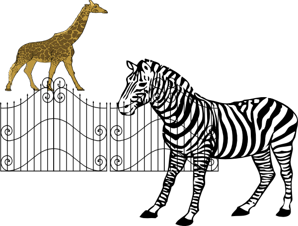 600x456 Zoo Gate Clipart Black And White Thewealthbuilding
