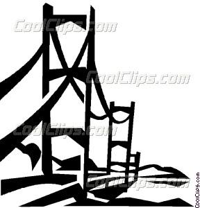 288x300 Suspension Bridge Vector Clip Art