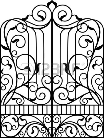 Gate Clipart Black And White