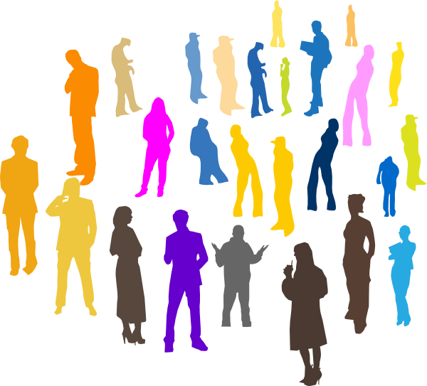 600x543 Free Clip Art Of People Gathering Dromgfe Top