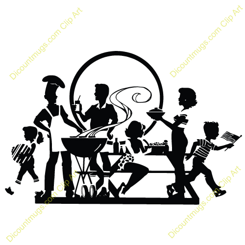 500x500 Picnic Clipart Family Gathering