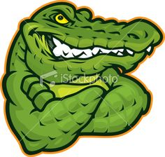 236x224 Mascot Clipart Image Of A Gator Holding A Football Graphic Gator