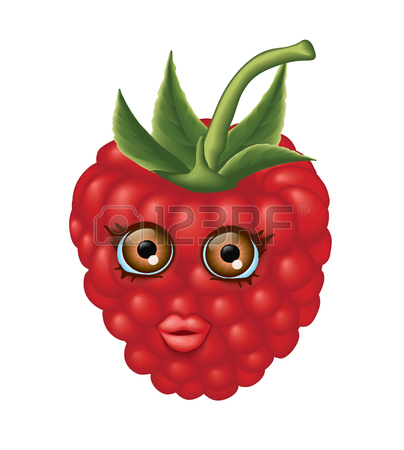 404x450 Red Raspberries With Kind Eyes And Gentle Look Royalty Free