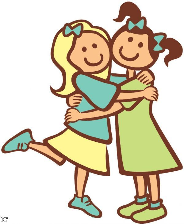 600x732 Two Sisters Clipart