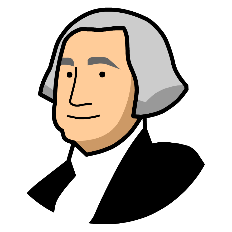 880x880 Head Clipart George Washington