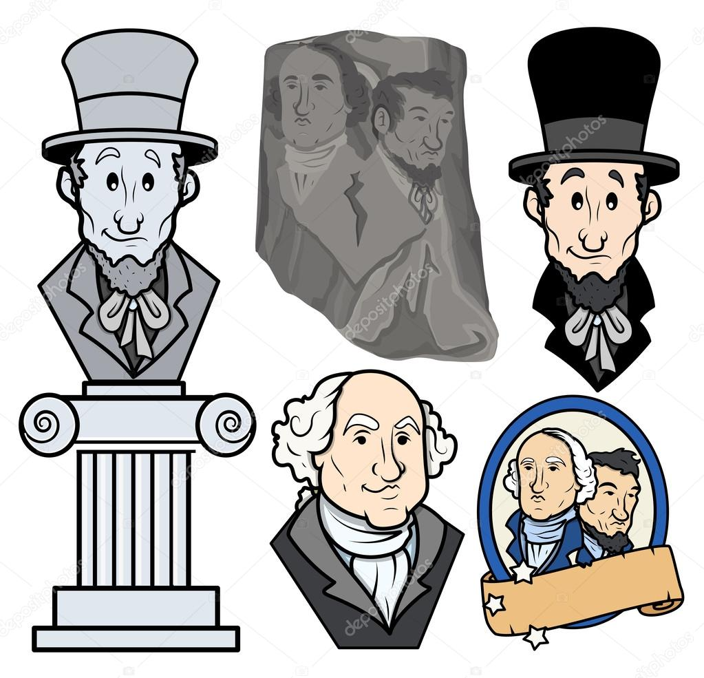 1023x985 Usa Presidents George Washington Amp Abraham Lincoln Clip Art
