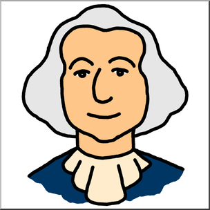 304x304 Clip Art Cartoon Faces George Washington Color I