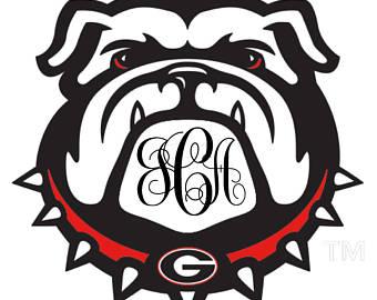 340x270 Georgia Bulldogs Decal Etsy