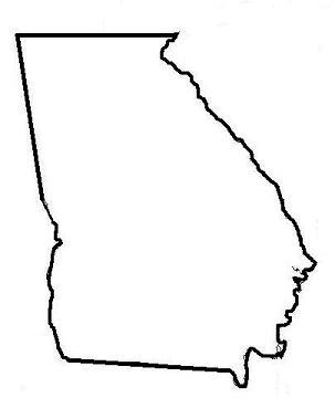 303x379 Georgia Map Clipart