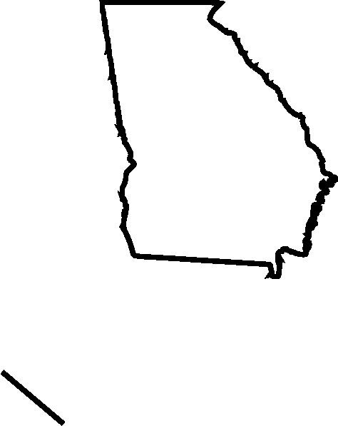 474x597 Georgia Outline Clip Art
