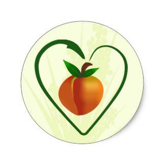 324x324 Georgia Peach Fruit Stickers Zazzle