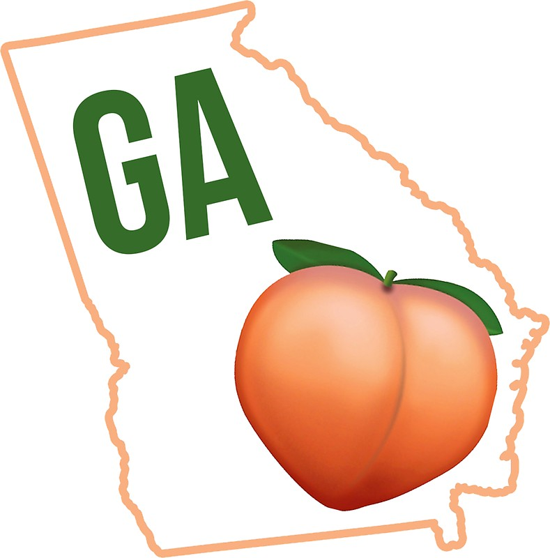 789x800 Georgia Peach State Stickers By Baileymincer Redbubble