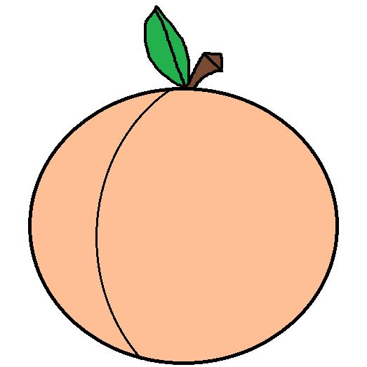 523x523 Peach Clipart Png