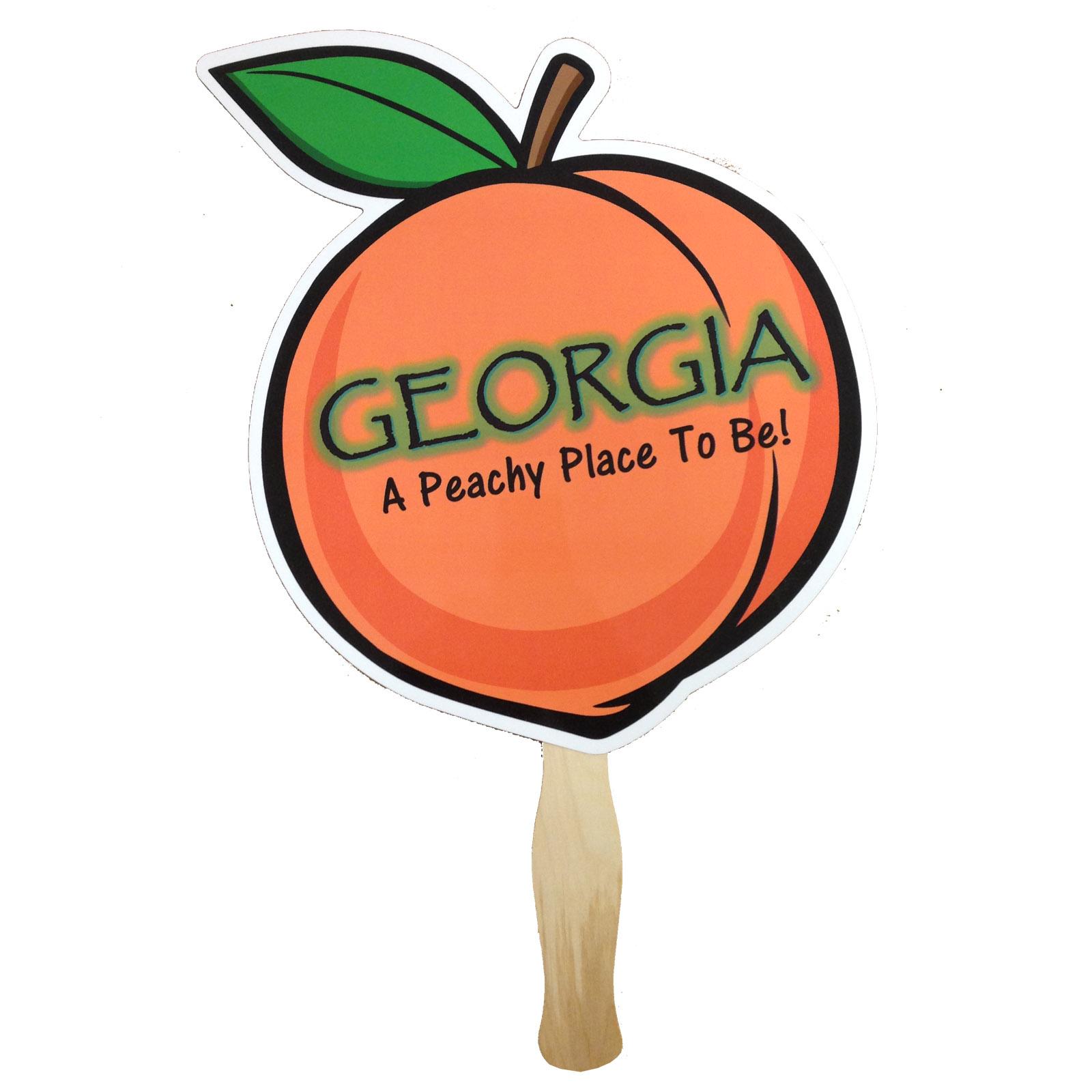 1600x1600 Peach Shaped Georgia Hand Fan