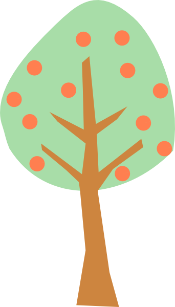 342x600 Peach Tree Clip Art