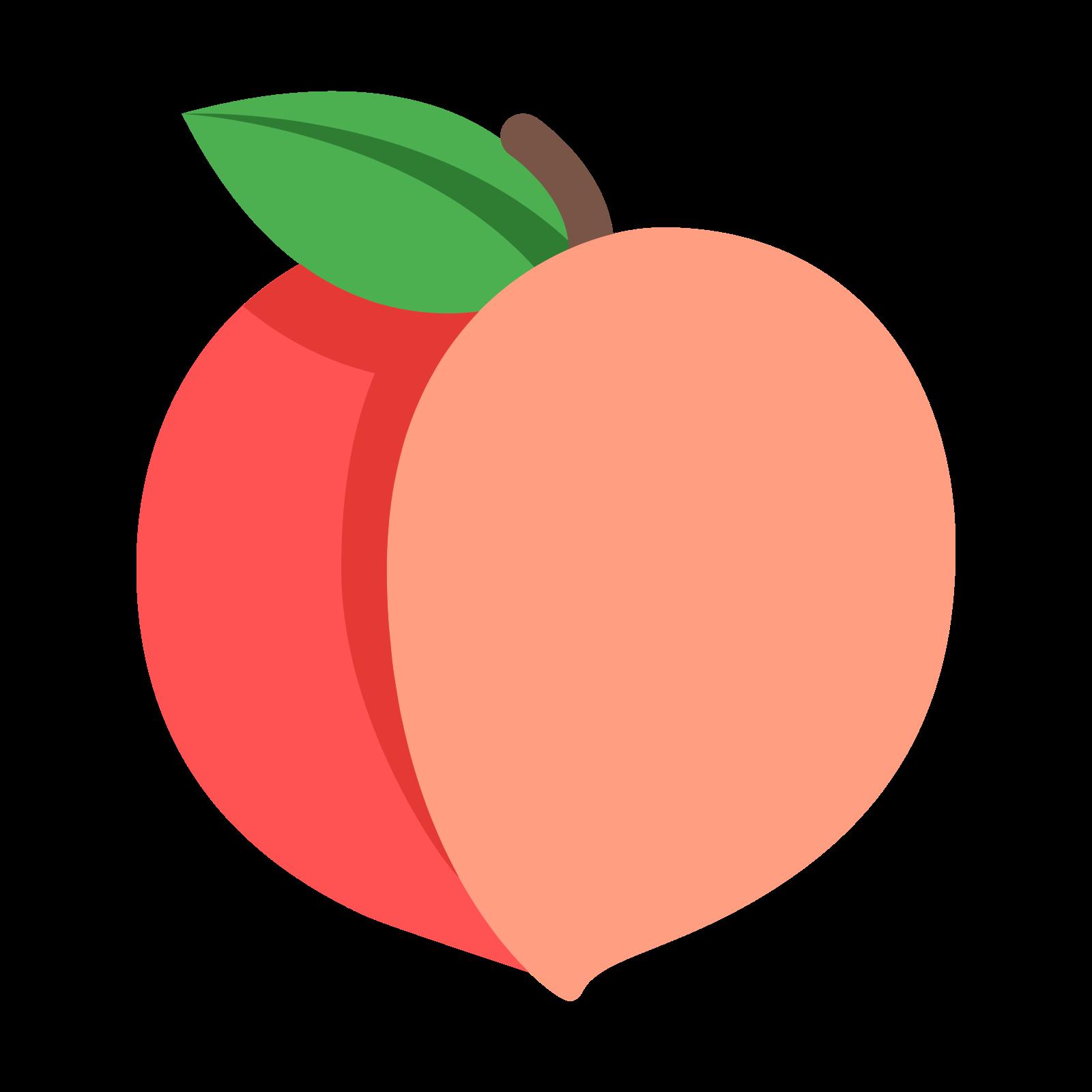 1600x1600 Peach Clipart Two