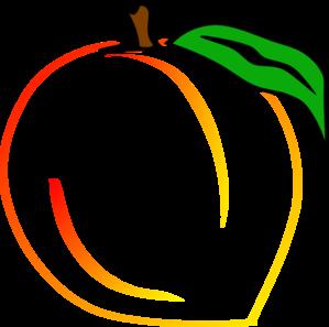 299x297 Fresh Peach Clip Art