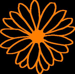 299x294 Orange Flower Clip Art