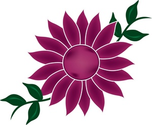 300x248 Purple Clipart Daisy Flower
